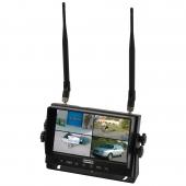 Trådløs quadsplit monitor