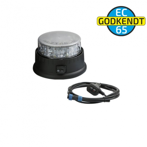 Genopladelig LED beacon - Gul