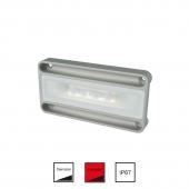 Nevis2 hvid/rød Vandtæt lampe 15W