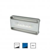 Nevis2 hvid/blå Vandtæt lampe 15W