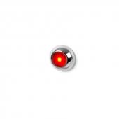 LED Knaplys Rød